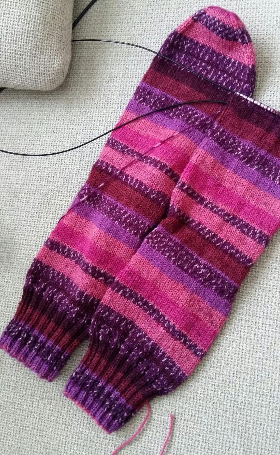 Paarse sokkenwol